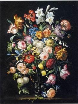 unknow artist Floral, beautiful classical still life of flowers 09