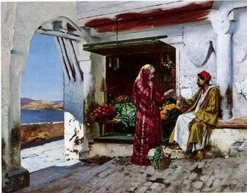 unknow artist Arab or Arabic people and life. Orientalism oil paintings 136