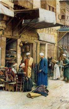 unknow artist Arab or Arabic people and life. Orientalism oil paintings  378
