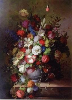 unknow artist Floral, beautiful classical still life of flowers.084