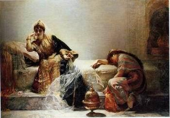 unknow artist Arab or Arabic people and life. Orientalism oil paintings 147