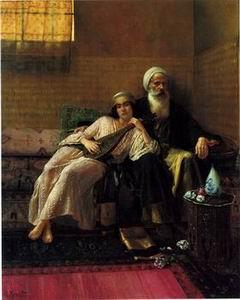 unknow artist Arab or Arabic people and life. Orientalism oil paintings 03