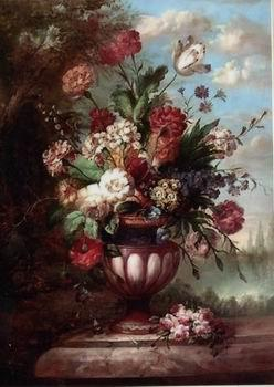 unknow artist Floral, beautiful classical still life of flowers.069