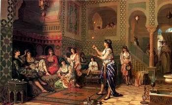 unknow artist Arab or Arabic people and life. Orientalism oil paintings 151