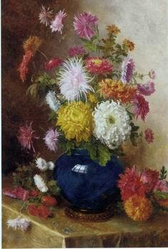 unknow artist Floral, beautiful classical still life of flowers.111