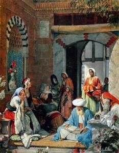 unknow artist Arab or Arabic people and life. Orientalism oil paintings 30