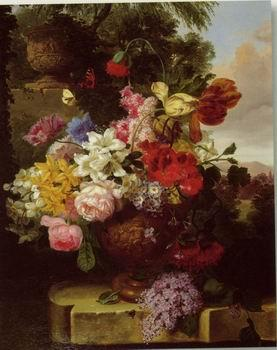 unknow artist Floral, beautiful classical still life of flowers.097