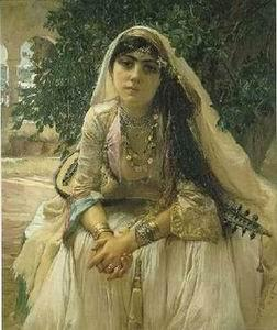 unknow artist Arab or Arabic people and life. Orientalism oil paintings 331