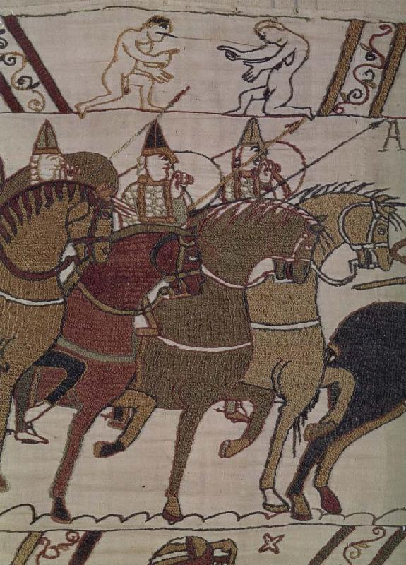 unknow artist Frankeich knight in the attack on Harold, out of the carpet of Bayeux
