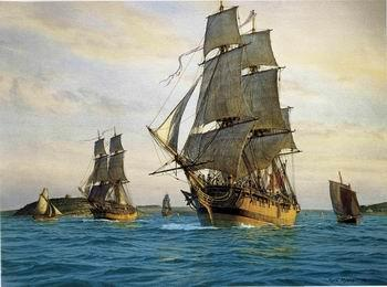 unknow artist Seascape, boats, ships and warships.81