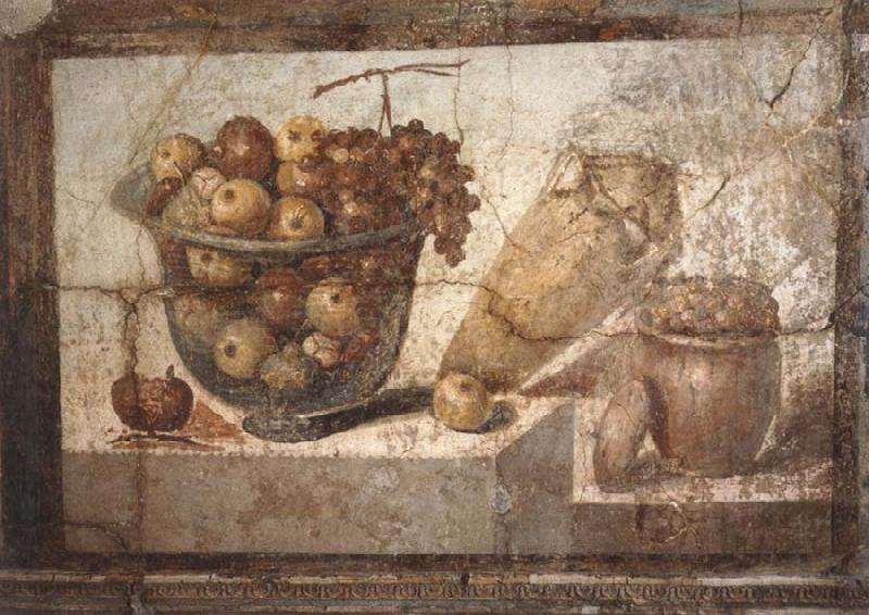 unknow artist Kristallschussel with fruits Wandschmuch out of the villa di Boscoreale