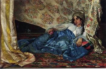 unknow artist Arab or Arabic people and life. Orientalism oil paintings  428