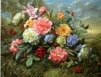 unknow artist Floral, beautiful classical still life of flowers.082