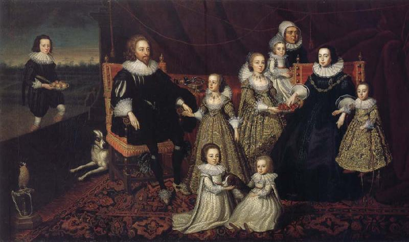 unknow artist Sir Thomas Lucy III and his family