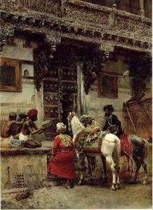 unknow artist Arab or Arabic people and life. Orientalism oil paintings 197