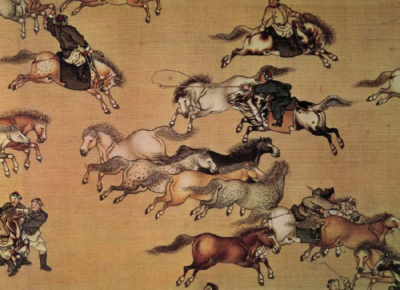 unknow artist Emperor Qianlong on the trip