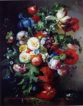 unknow artist Floral, beautiful classical still life of flowers.052