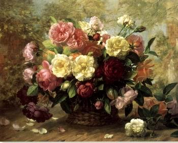 unknow artist Floral, beautiful classical still life of flowers.085