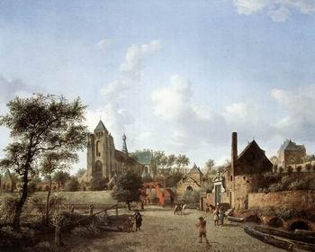 unknow artist European city landscape, street landsacpe, construction, frontstore, building and architecture. 158