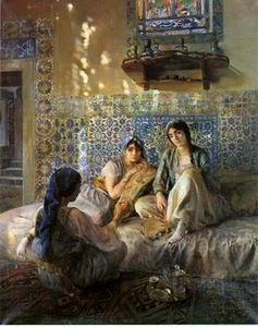 unknow artist Arab or Arabic people and life. Orientalism oil paintings  224