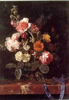 unknow artist Floral, beautiful classical still life of flowers.050