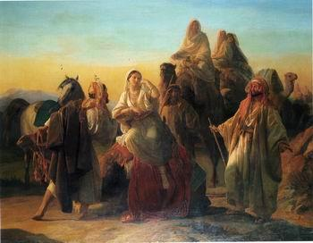unknow artist Arab or Arabic people and life. Orientalism oil paintings  443