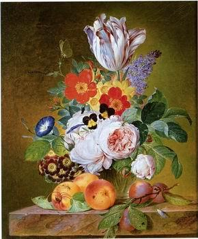 unknow artist Floral, beautiful classical still life of flowers.041