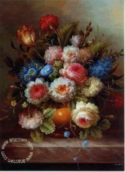 unknow artist Floral, beautiful classical still life of flowers.034