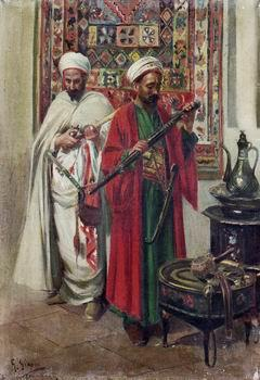 unknow artist Arab or Arabic people and life. Orientalism oil paintings  423