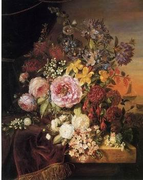 unknow artist Floral, beautiful classical still life of flowers 04