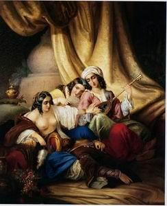 unknow artist Arab or Arabic people and life. Orientalism oil paintings 163