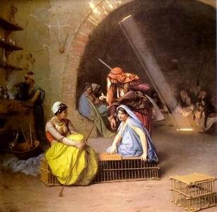 unknow artist Arab or Arabic people and life. Orientalism oil paintings  303