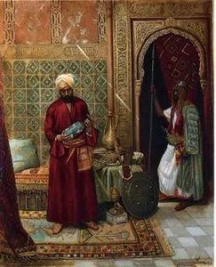 unknow artist Arab or Arabic people and life. Orientalism oil paintings  376