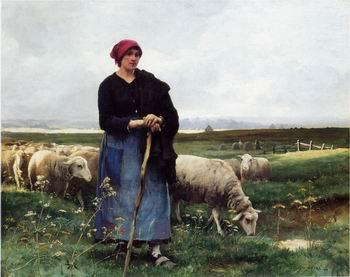 unknow artist Sheepherder and Sheep 199