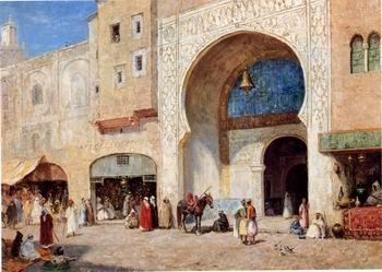 unknow artist Arab or Arabic people and life. Orientalism oil paintings  399