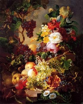 unknow artist Floral, beautiful classical still life of flowers.077