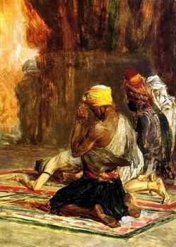 unknow artist Arab or Arabic people and life. Orientalism oil paintings  524