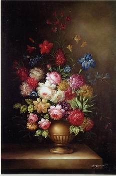 unknow artist Floral, beautiful classical still life of flowers.100
