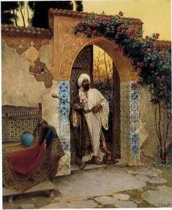 unknow artist Arab or Arabic people and life. Orientalism oil paintings 10
