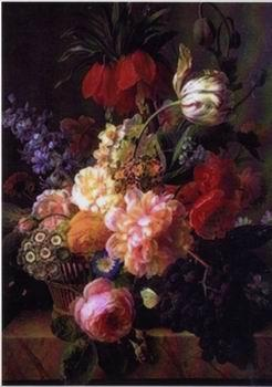 unknow artist Floral, beautiful classical still life of flowers.064