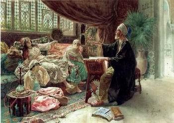 unknow artist Arab or Arabic people and life. Orientalism oil paintings 190
