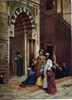 unknow artist Arab or Arabic people and life. Orientalism oil paintings 594
