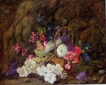 unknow artist Floral, beautiful classical still life of flowers.076