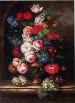 unknow artist Floral, beautiful classical still life of flowers.059
