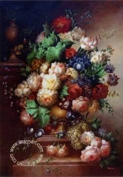 unknow artist Floral, beautiful classical still life of flowers.062