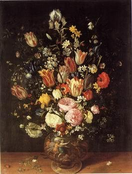 unknow artist Floral, beautiful classical still life of flowers.043