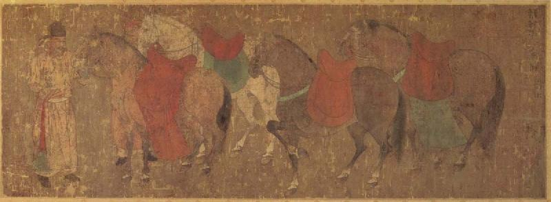unknow artist Reitknecht with horses seaweed-dynasty