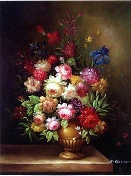 unknow artist Floral, beautiful classical still life of flowers.046