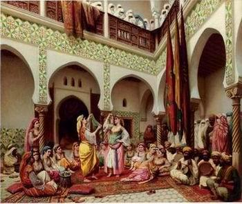 unknow artist Arab or Arabic people and life. Orientalism oil paintings 137