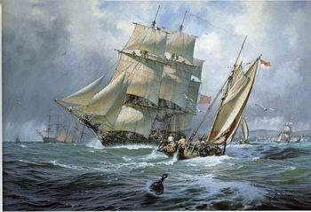 unknow artist Seascape, boats, ships and warships. 84